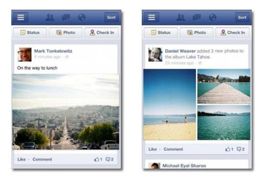 Facebook móvil mejora el visionado de imágenes