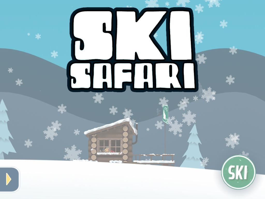 Juego IOS. Ski Safari, simple y entretenido