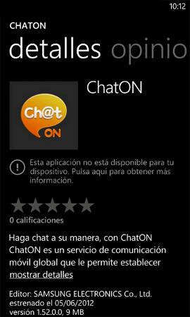 Samsung ChatOn llega a Windows Phone