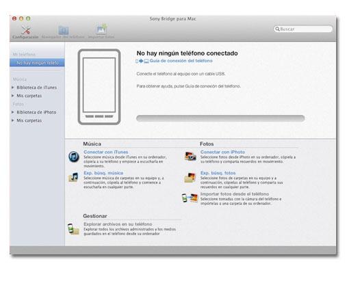 Sony Brigde para sincronizar tu Xperia con Mac