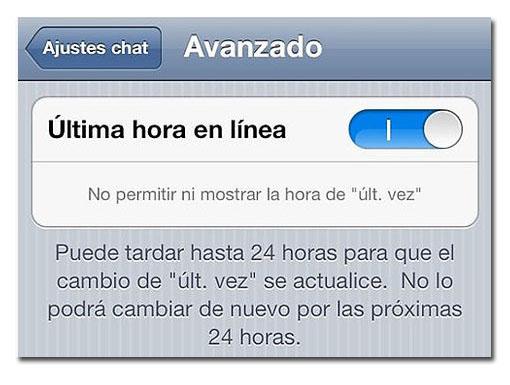 Oculta tu estado en Whatsapp desde iOS