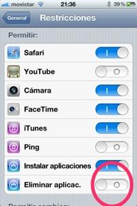 Truco iOS. No borres aplicaciones por error