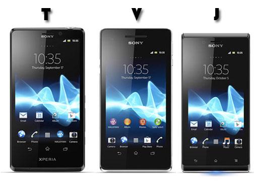 IFA 2012. Sony Xperia T, Xperia V y Xperia J