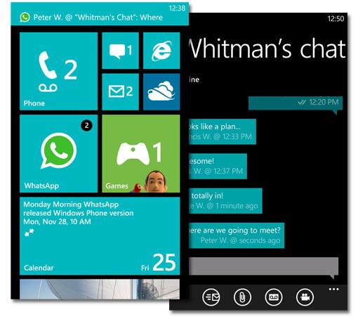 Whatsapp para Windows Phone 8 en imágenes