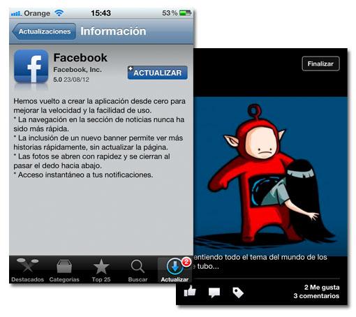 Facebook para iOS se actualiza y mejora su uso