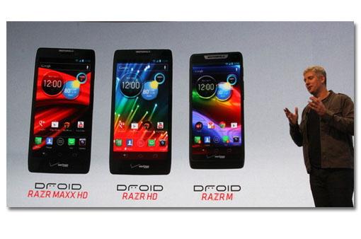Motorola presenta Razr Maxx HD, Razr HD y Razr M