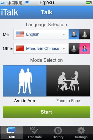 iTalk e iOS te ayudan con los idiomas