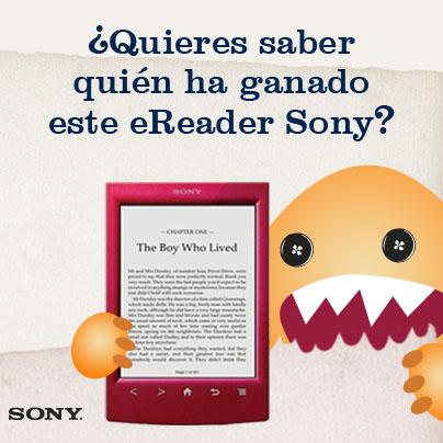Ya tenemos ganadora del eReader Sony de #DevoradorDeLibros