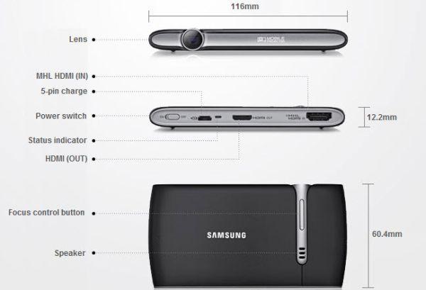 Samsung Mobile Beam Projector. Visualiza a lo grande en cualquier lugar