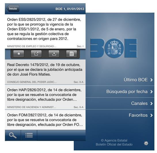 El BOE en tu iOS