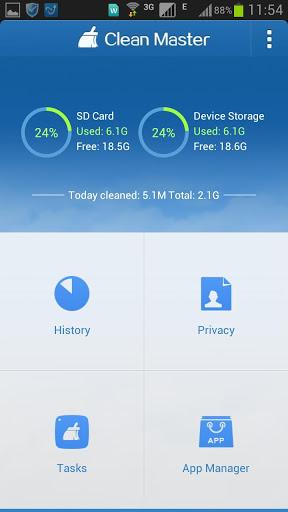 Mantén tu Android limpio con Clean Master