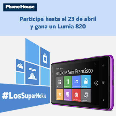 Gana un Lumia 820 libre con #LosSuperNokia. Mecánica de la promoción