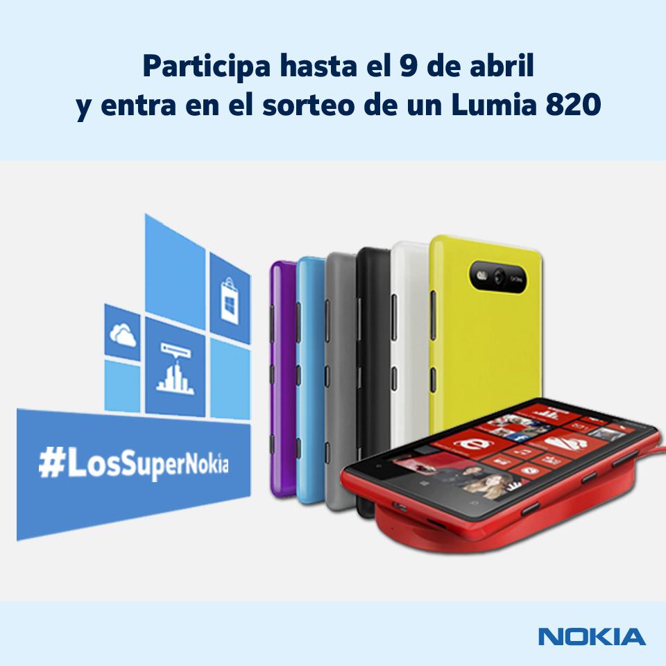Gana un Lumia 820 con #LosSuperNokia. Mecánica del sorteo