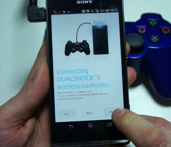 DualShock3 connect Xperia SP
