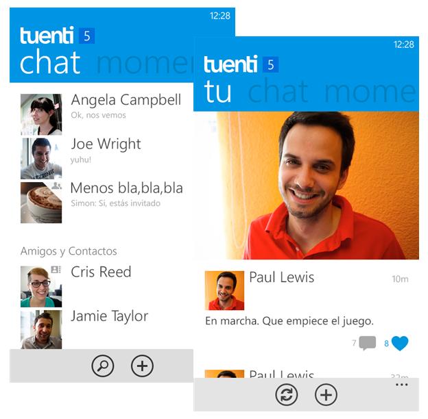 Tuenti ya está en Windows Phone