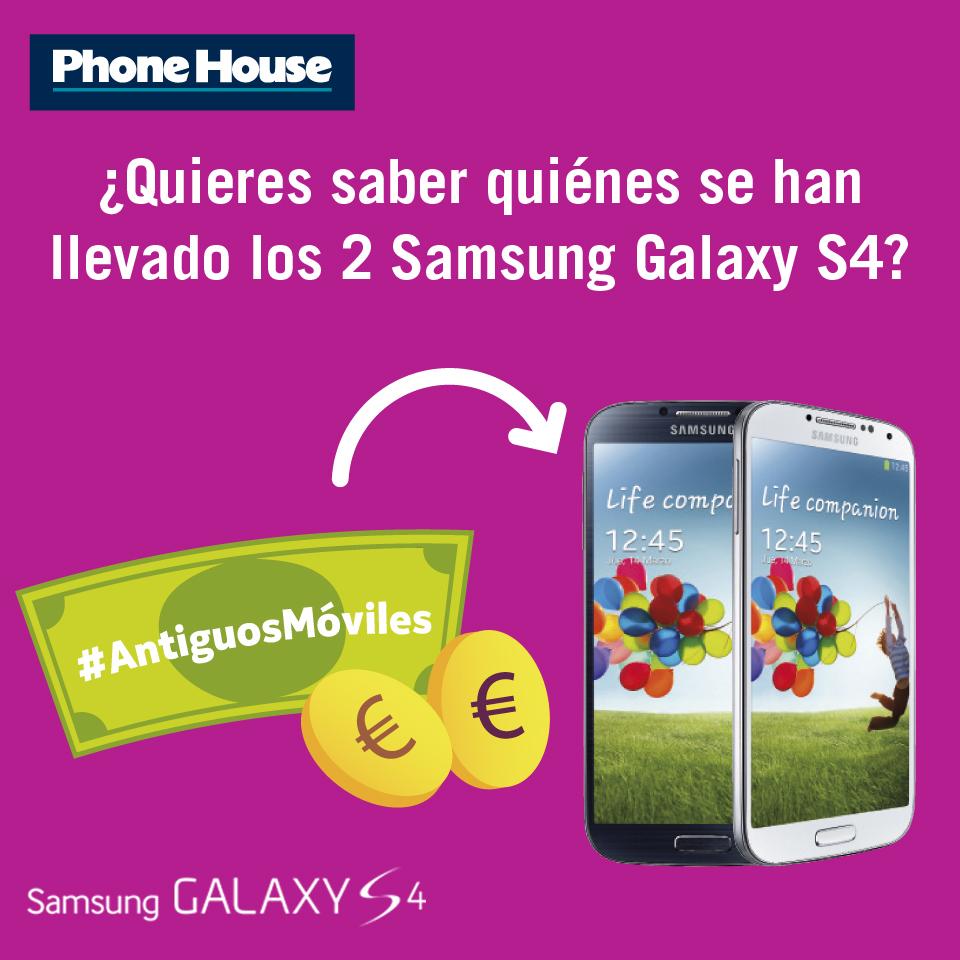 Ganadores de los 2 Galaxy S4 del concurso #AntiguosMóviles de Facebook