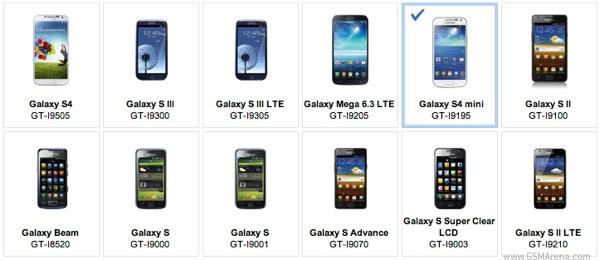 El Galaxy S4 Mini aparece por error en la web de Samsung UK