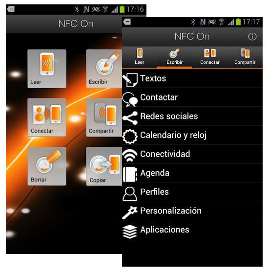 NFC On. App de Orange para editar y crear etiquetas