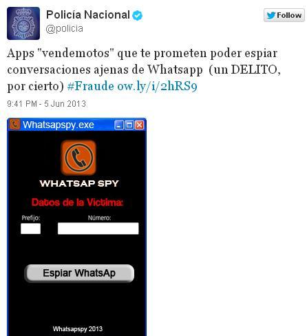 WhatsAp Spy, la Policía advierte de los peligros de esta aplicación