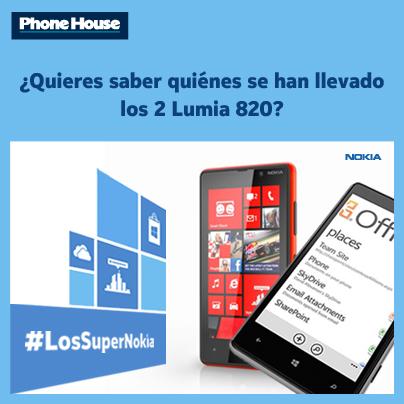 Ganadores de #LosSuperNokia de Facebook. ¿Quién se lleva los 2 Lumia 820?