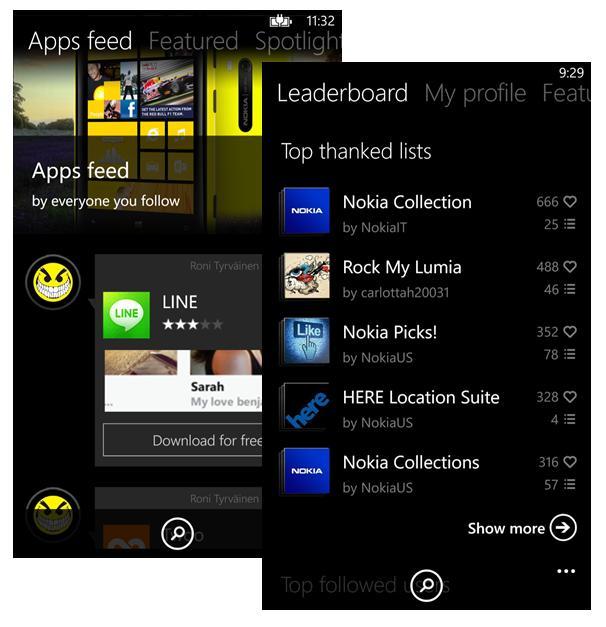 App Social de Nokia. Recomienda apps a tus amigos