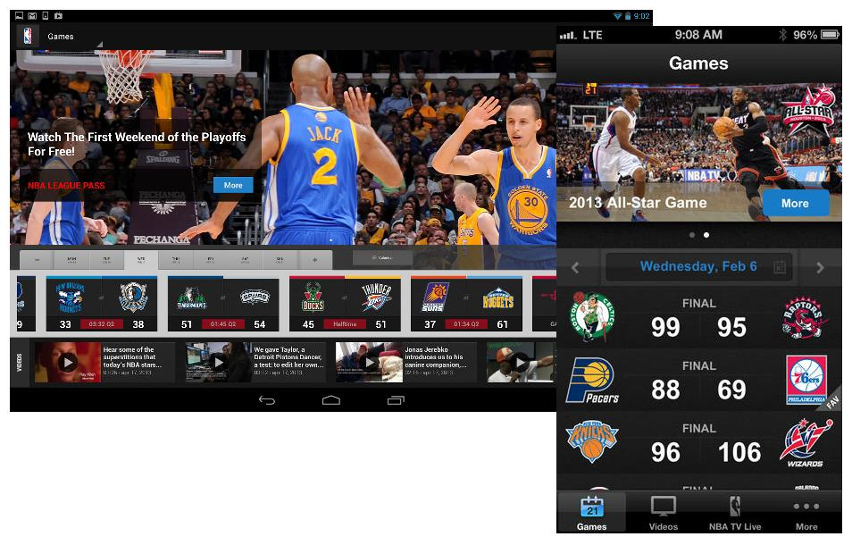 Sigue el baloncesto estrella con NBA Game Time