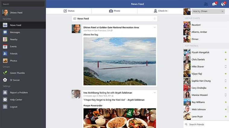 Facebook se actualiza para las plataformas Windows