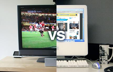 ¿A qué renunciarías, televisión o Internet?