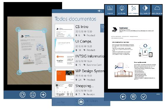CamScanner ya disponible en Windows Phone 8