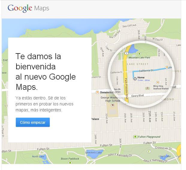 El nuevo Google Maps ha empezado a llegar a los ordenadores de todo el mundo