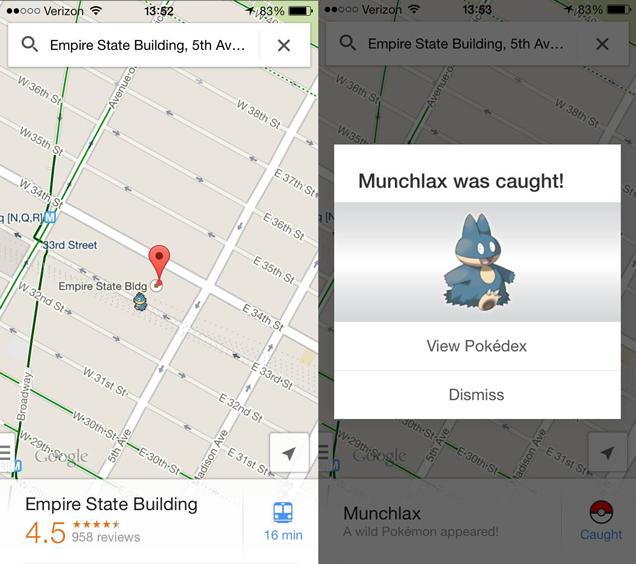Los pokemon vuelven, y ahora los tendrás que buscar en Google Maps