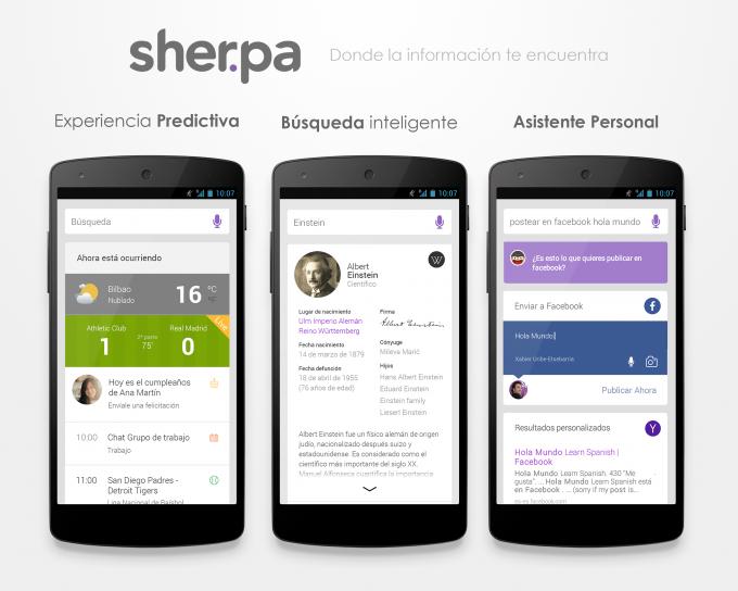Sherpa, el 'mayordomo digital' para Android, ahora predice tus gustos o necesidades