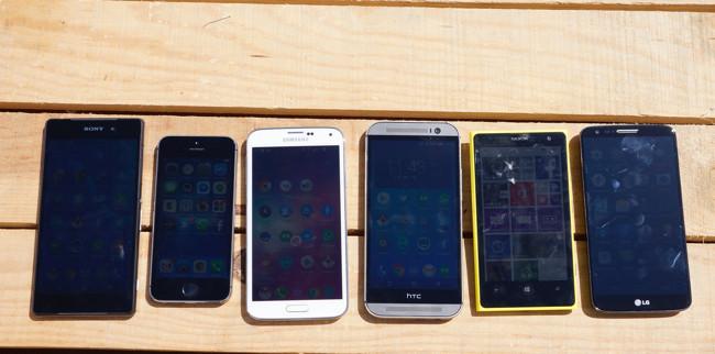 Las pantallas de la mayoría de los smartphones suspenden en verano