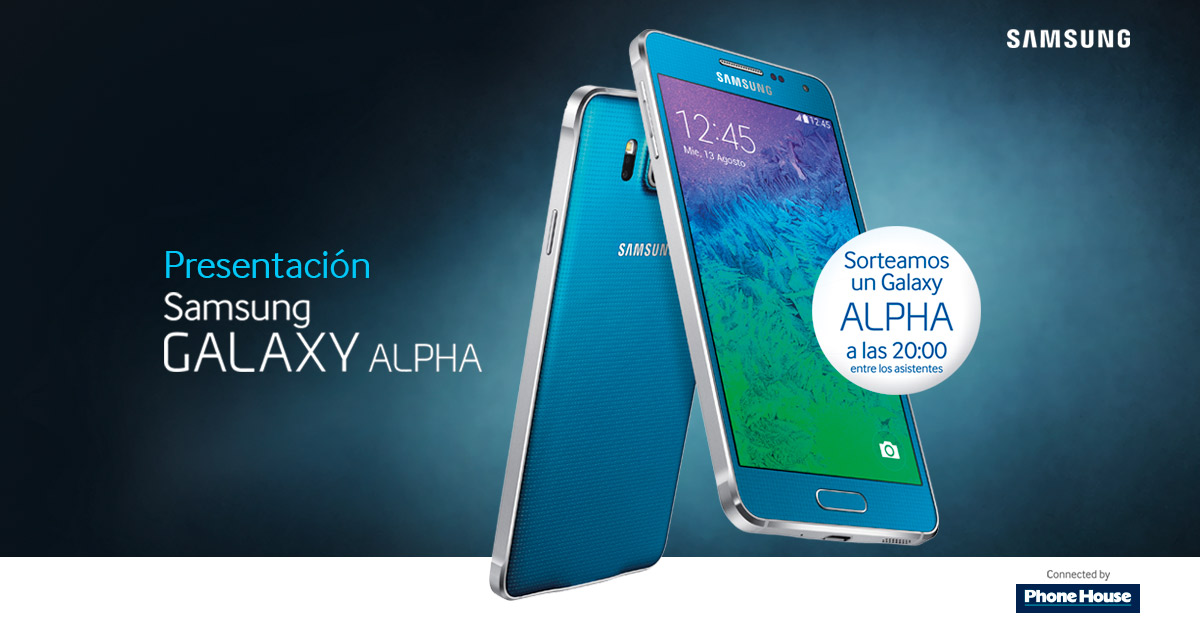 El 25 de septiembre llega el Samsung Galaxy Alpha, ¡ven a conocerlo y podrás ganar uno!