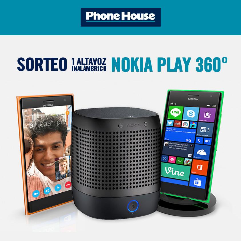 Completa la frase y entra en el sorteo de un altavoz Nokia Play 360