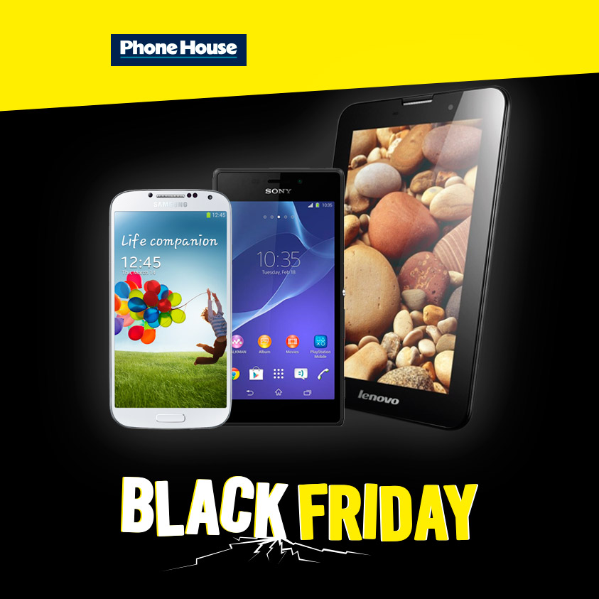 Phone House celebra el 'Black Friday' con 3 días de ofertas especiales en smartphones, tablets y accesorios