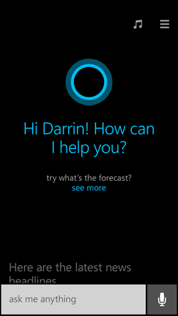 "Cortana, el ""Siri"" de Windows Phone"