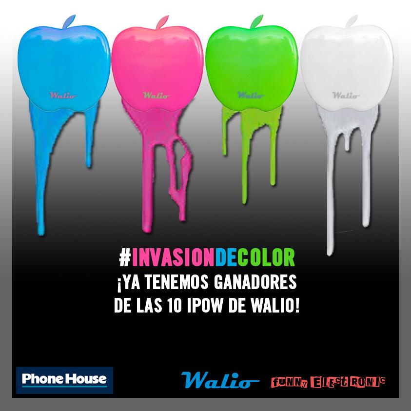 Sorteo #InvasionDeColor ¡Ya tenemos ganadores de las 10 baterías iPow Walio!