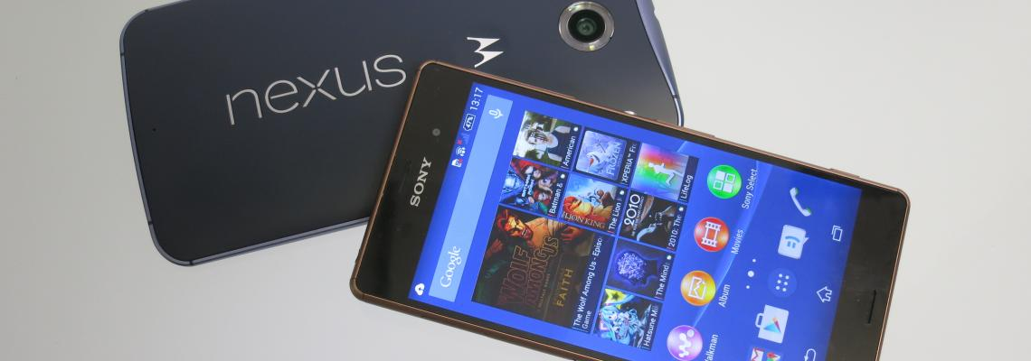 Comparamos: Nexus 6 VS Sony Xperia Z3