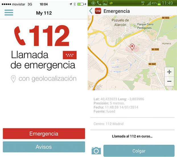 My112, tu app de servicio de emergencias