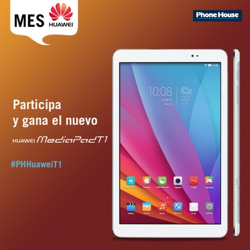 Creatividad sorteo Huawei MediaPad T1 Facebook