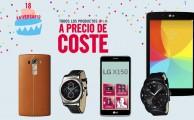 ¡Del 1 al 3 de octubre todos los productos LG a precio de coste!