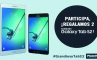 ¡Participa en #GrandiosoTabS2, regalamos dos Samsung Galaxy Tab S2!