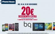 ¡Del 16 al 18 de noviembre llévate tu smartphone o tablet BQ libre con 20€ extra de descuento al entregar tu móvil usado!