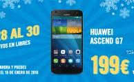 ¡Solo del 28 al 30 de diciembre! Descuentos especiales en smartphones libres y con operador