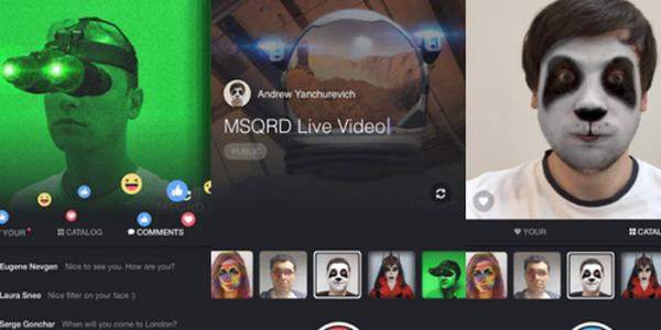 Facebook Live MSQRD 2