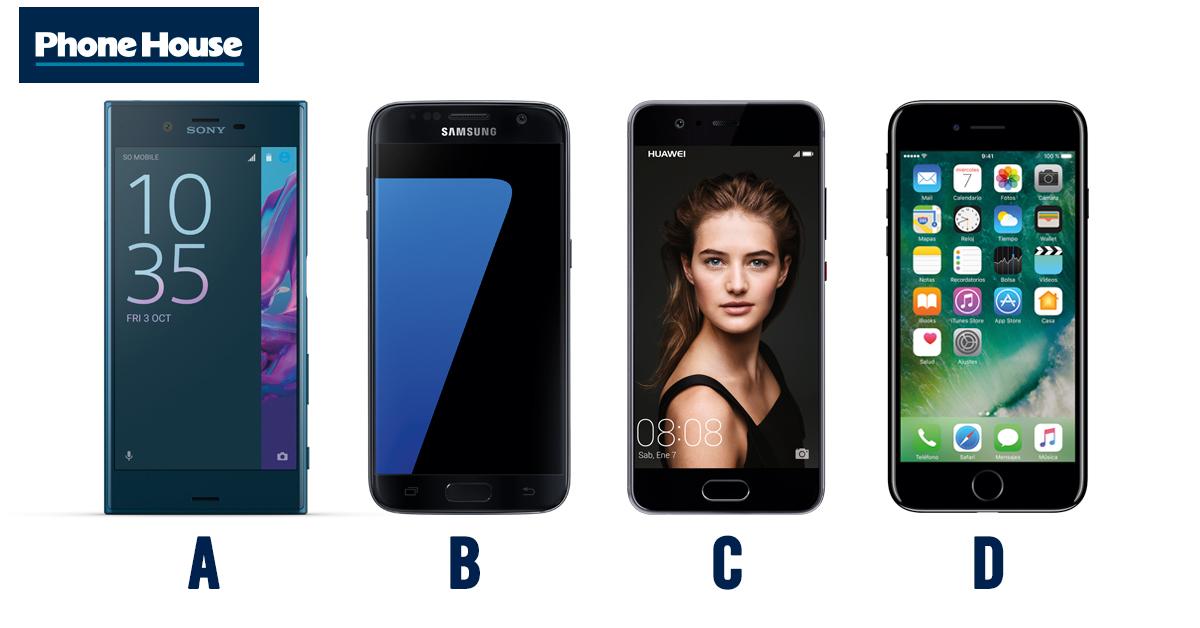 Comparamos Huawei P10 VS Samsung Galaxy S7 VS Sony Xperia XZ VS ...