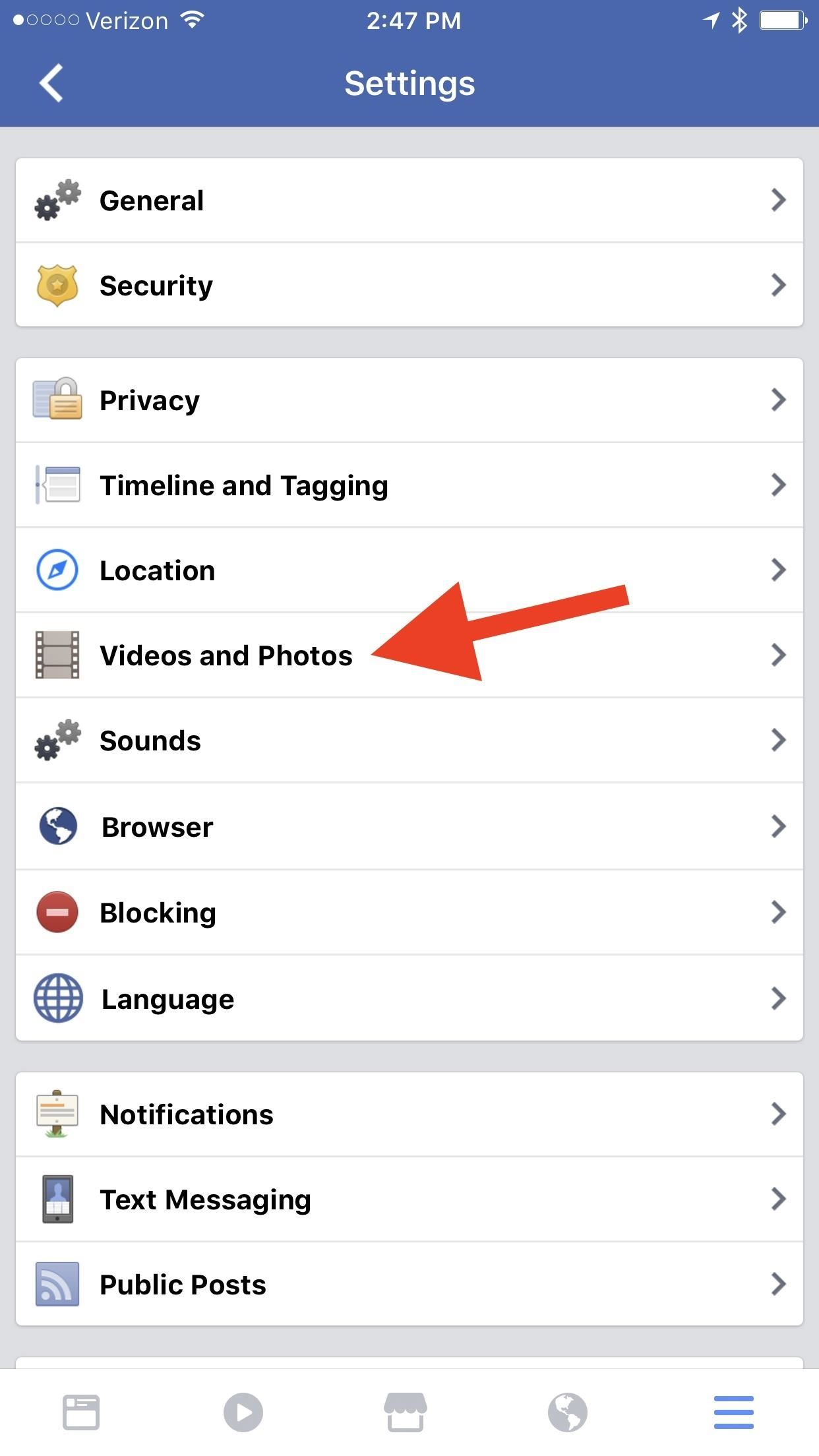 how to turn off auto download photos facebook