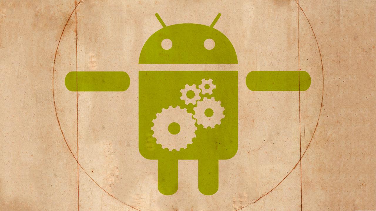 android con engranajes