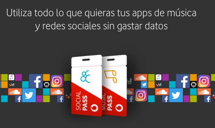 Vodafone Pass, el nuevo servicio para no gastar datos en redes sociales o música